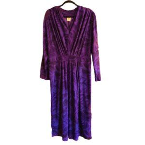 Vintage early 80s disco  ruched waist dress